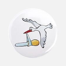 "Test Tube Stork 3.5"" Button"