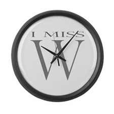 I Miss W Large Wall Clock