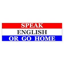 Speak English Bumper Bumper Bumper Sticker