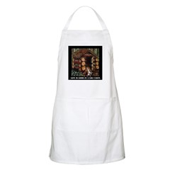 Life is Good in a Log Cabin BBQ Apron