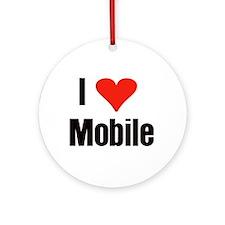 I Love Mobile Ornament (Round)