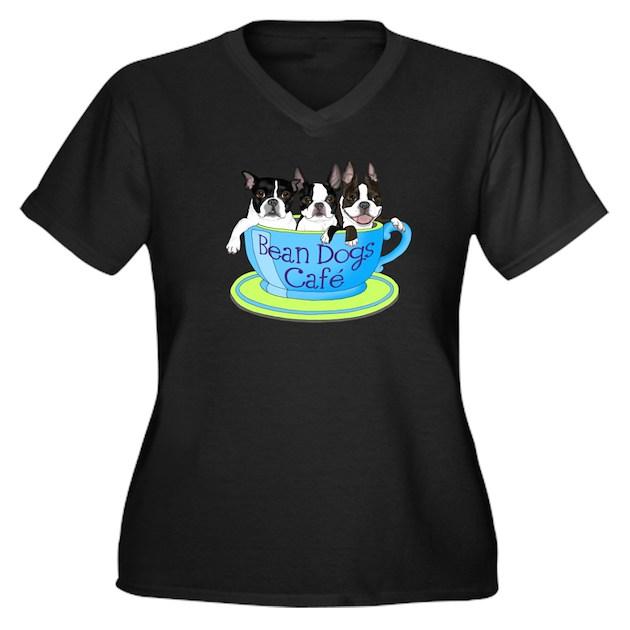 beandogs logo women 39 s plus size v neck dark t shirt