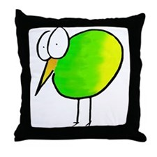 Kooky Kiwi Throw Pillow