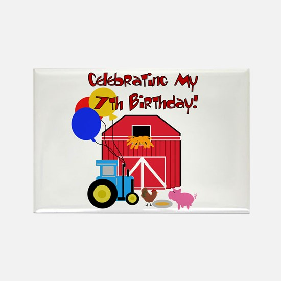 Farm 7th Birthday Rectangle Magnet