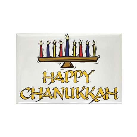 Happy Chanukkah Rectangle Magnet (10 pack)