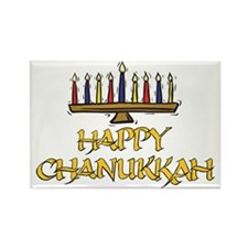 Happy Chanukkah Rectangle Magnet