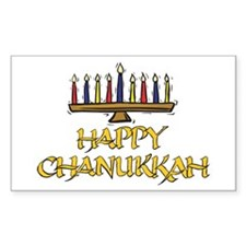 Happy Chanukkah Rectangle Decal