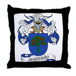 Madrono Coat of Arms Throw Pillow
