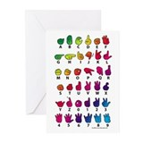 Asl alphabet Greeting Cards (10 Pack)