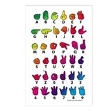 Sign language Postcards