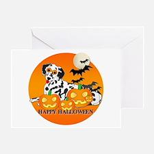 Dalmatian Halloween Greeting Card
