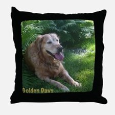 Golden Days Throw Pillow