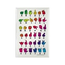 RBW Fingerspelled ABC Rectangle Magnet (10 pack)