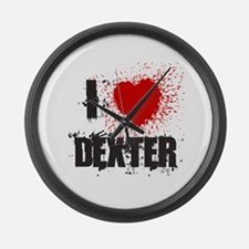 I Splatter Dexter Large Wall Clock