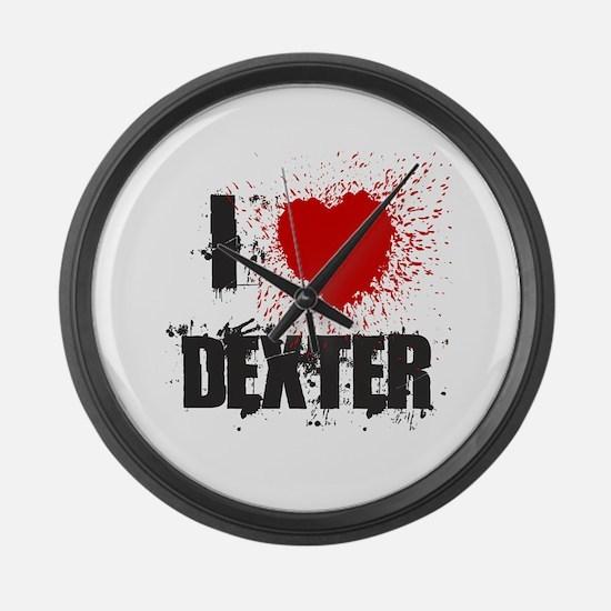 I Splatter Dexter Large Wall Clock
