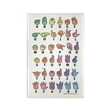 PAS Fingerspelled ABC Rectangle Magnet (10 pack)