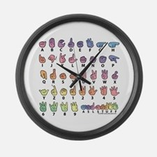 PAS Fingerspelled ABC Large Wall Clock