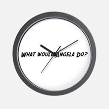 What would Angela do? Wall Clock