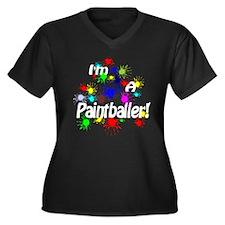 Paintballer Women's Plus Size V-Neck Dark T-Shirt