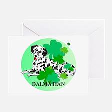 Irish Dalmatian Greeting Card