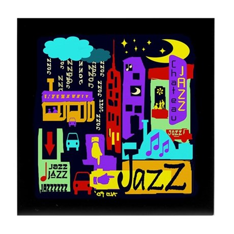 Jazz Nights Tile Coaster
