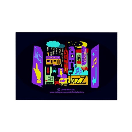 Jazz Nights Rectangle Magnet (10 pack)
