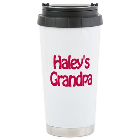 Haley's Grandpa Stainless Steel Travel Mug