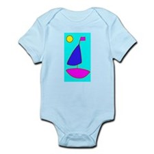 Sailing Moon Sailboat Baby Onesie Infant Bodysuit