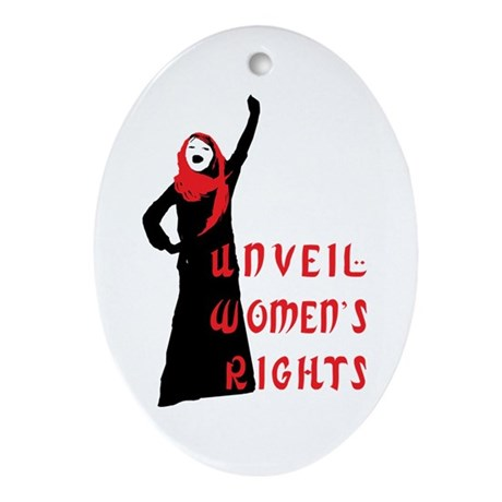 Islamic Feminist Oval Ornament