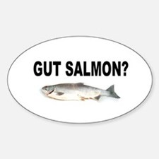 Gut Salmon, GUT FISH Oval Decal