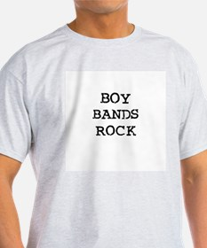 BOY BANDS ROCK Ash Grey T-Shirt