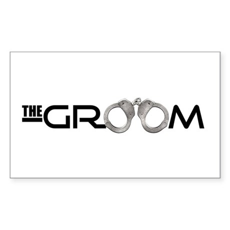 The Groom Rectangle Sticker