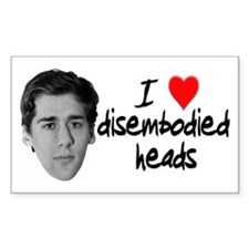 Disembodied Heads Rectangle Decal