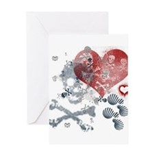 Death Love Rock Greeting Card