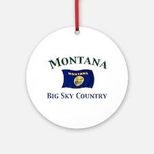 Montana-Big Sky Ornament (Round)