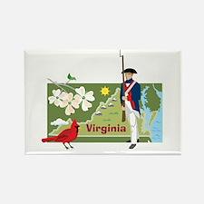 Virginia Map Rectangle Magnet
