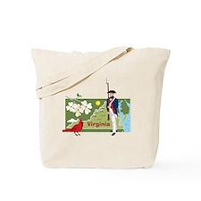 Virginia Map Tote Bag