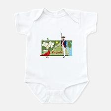Virginia Map Infant Bodysuit