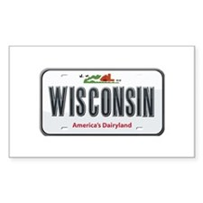 Wisconsin Plate Rectangle Decal
