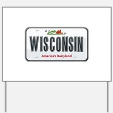 Wisconsin Plate Yard Sign
