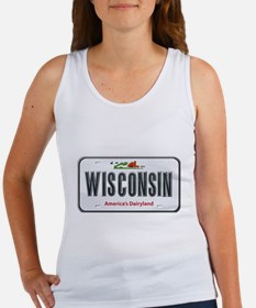 Wisconsin Plate Women's Tank Top