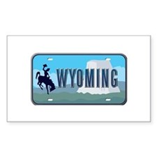 Wyoming Rectangle Stickers