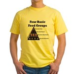 Four Basic Food Groups Yellow T-Shirt