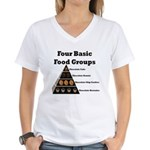 Four Basic Food Groups Women's V-Neck T-Shirt