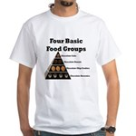 Four Basic Food Groups White T-Shirt