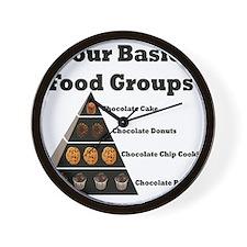 Four Basic Food Groups Wall Clock