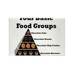 Four Basic Food Groups Rectangle Magnet