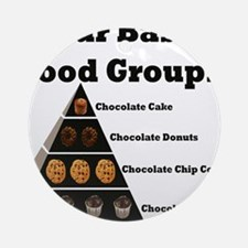 Four Basic Food Groups Ornament (Round)