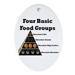 Four Basic Food Groups Oval Ornament
