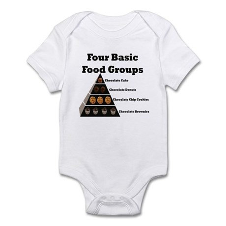 Four Basic Food Groups Infant Bodysuit